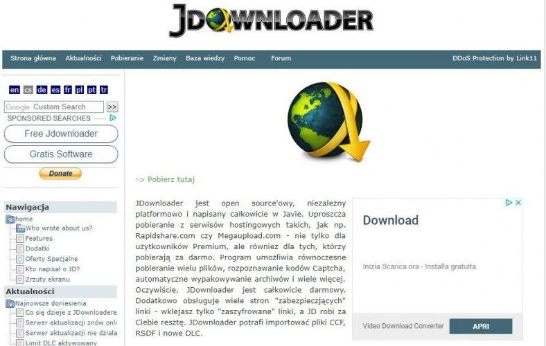 Programmi per Scaricare Film Gratis in Italiano-jdownloader