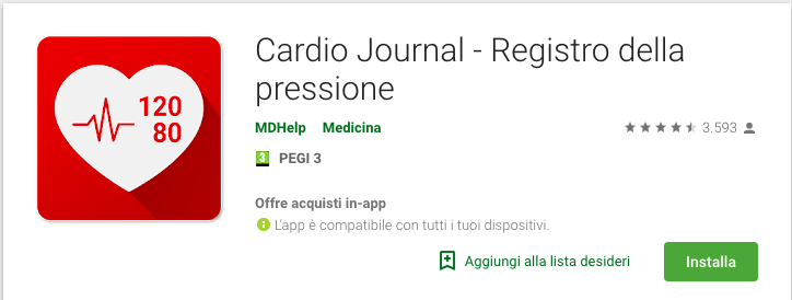 Cardio Journal – Registro della Pressione