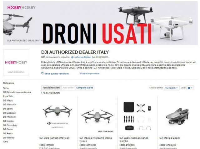 droni usati garantiti dji