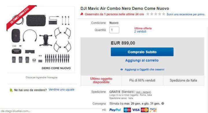 droni usati garantiti-ebay