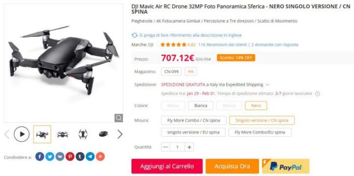 droni usati garantiti-gearbest
