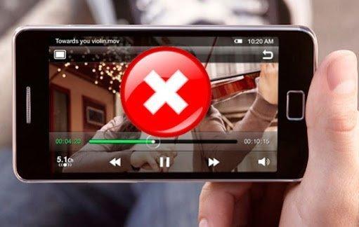 impossibile riprodurre il video su android