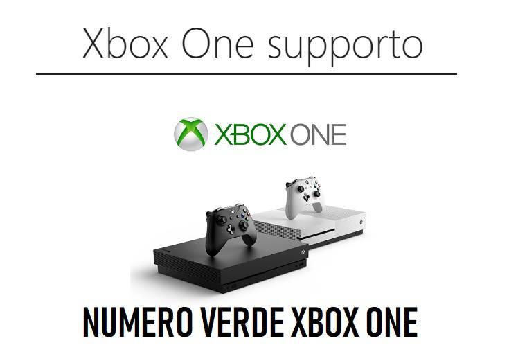 numero verde xbox one