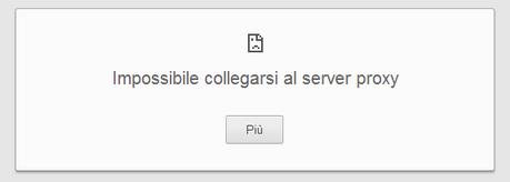 Impossibile collegarsi al Server Proxy