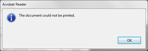 Impossibile stampare PDF