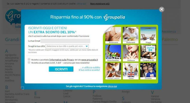 Groupalia Groupon-coupon promo