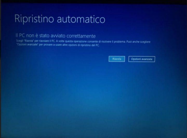 Impossibile avviare il computer