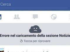 Impossibile connettersi a Facebook