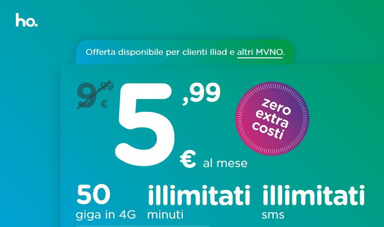 ho mobile offerta 50 Gb