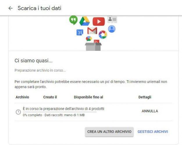 scarica i contenuti di google+