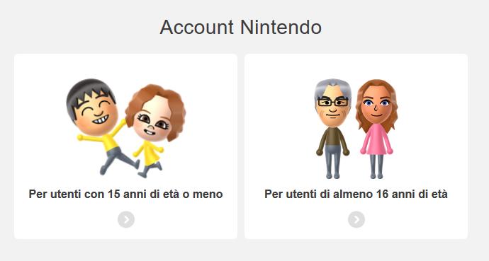 come creare un account nintendo switch 1