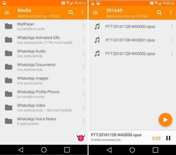 come salvare gli audio di whatsapp 3