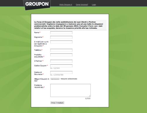 groupon reclami