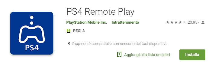 ps4 remote play-playstore