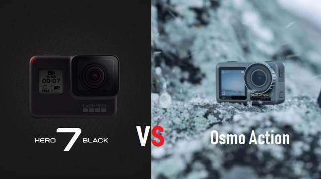 differenza tra DJI Osmo Action e GoPro Hero 7