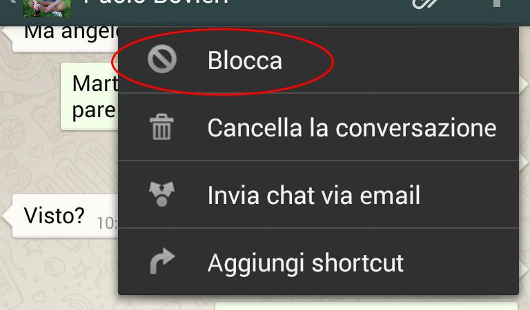 come bloccare un contatto su whatsapp -2