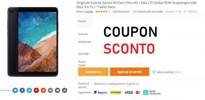 Xiaomi Mi Pad 4 Plus Coupon Banggood