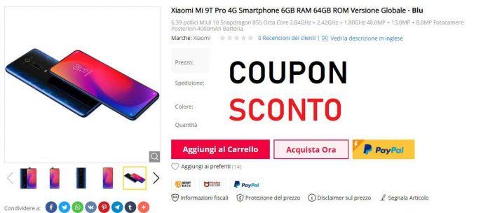 Xiaomi mi 9t Pro coupon gearbest-sconto