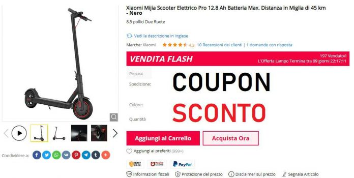 xiaomi scooter pro coupon gearbest