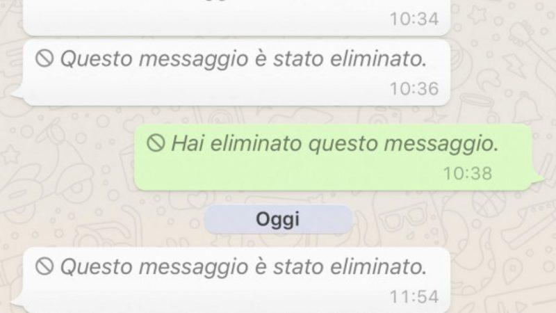 Come Eliminare un Messaggio WhatsApp -2