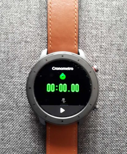 amazfit gtr 47mm cronometro