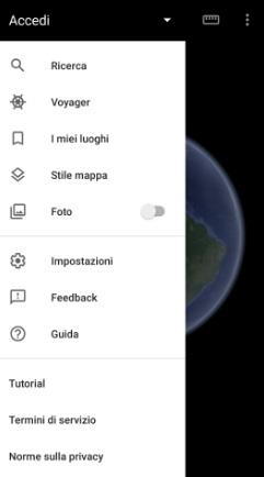 come attivare nubi animate su google earth-passaggi