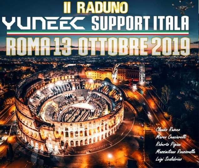 raduno yuneec roma droni
