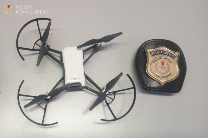 drone fontana di trevi
