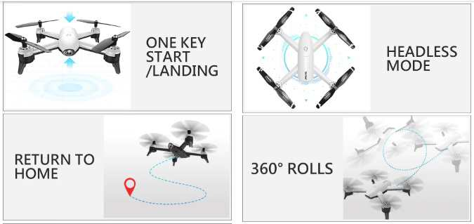 funzioni SG106 Drone Gearbest