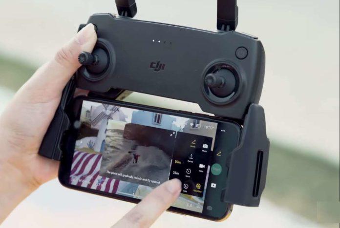 come usare la modalità Dronie su DJI Mavic Mini-video