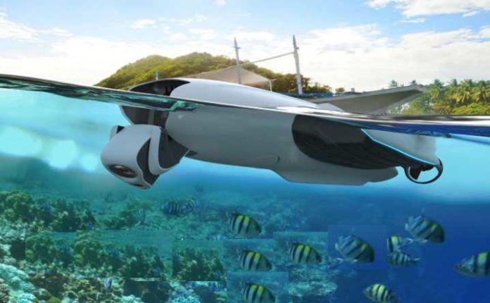 drone subacqueo professionale senza fili-guida