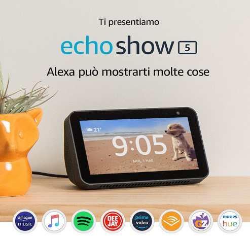 regali tecnologici 50 euro-echo show 5