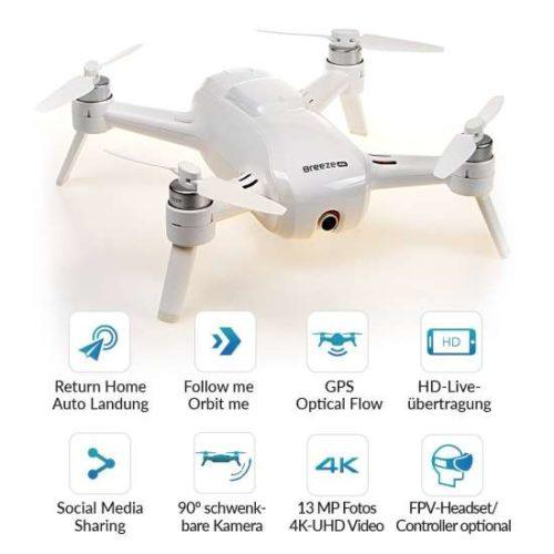 migliori droni sotto i 300 euro-yuneec Breeze