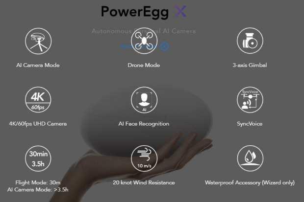 power egg x specifiche