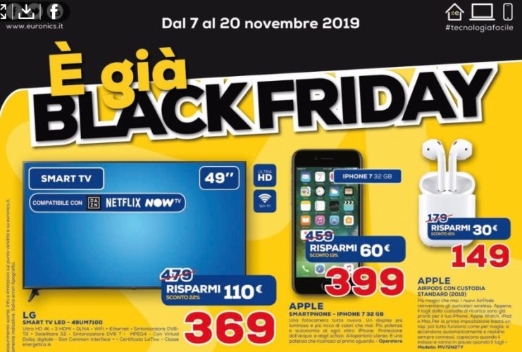 volantino euronics black friday -2