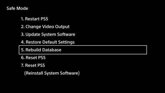 Come aggiornare PS5 in modalità Provvisoria