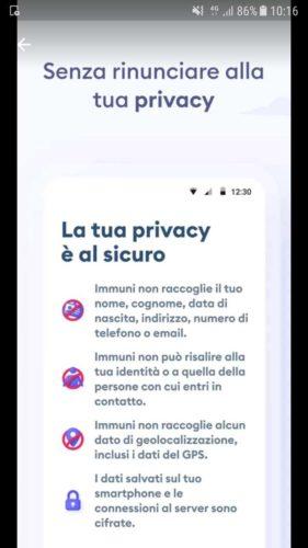 privacy app immuni