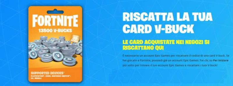 Come riscattare codice Fortnite PC