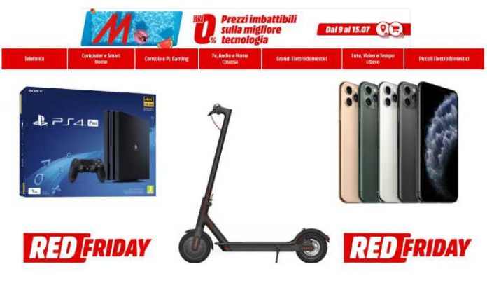 MediaWorld Red Friday Volantino 2020
