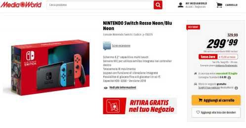 MediaWorld Red Friday Volantino 2020-nintendo