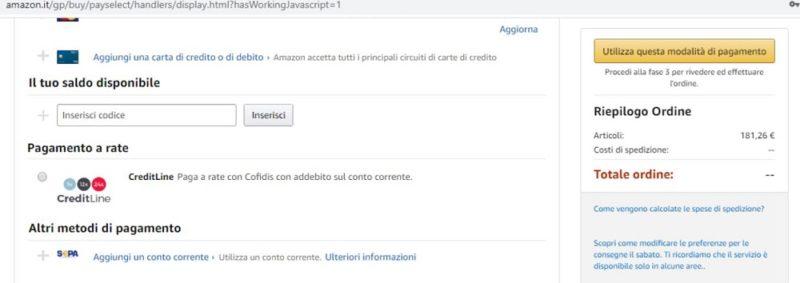 Come pagare a rate su Amazon 2