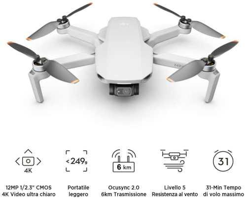 migliori droni sotto i 1000 euro-dji mini 2