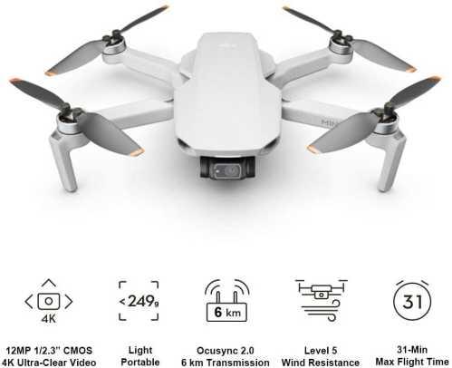 Migliori droni per ragazzi-dji mini 2