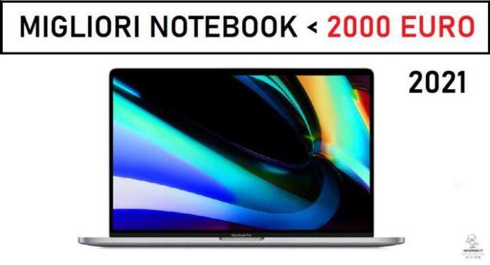 Migliori notebook sotto i 2000 euro 2021