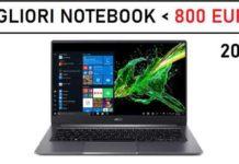 migliori notebook sotto 800 euro 2021