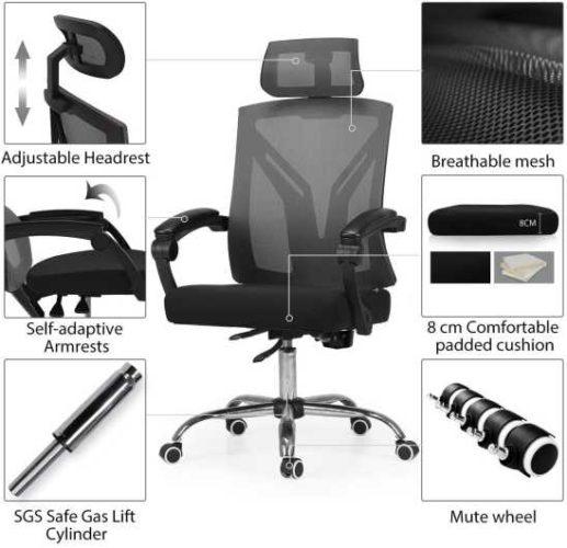 migliori sedie ergoniche da ufficio-hbada
