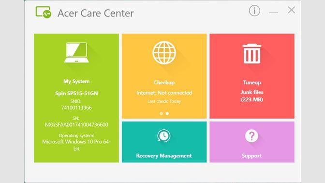 Cos'è Acer Care Center -2